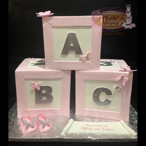 Cubes baby shower cake
