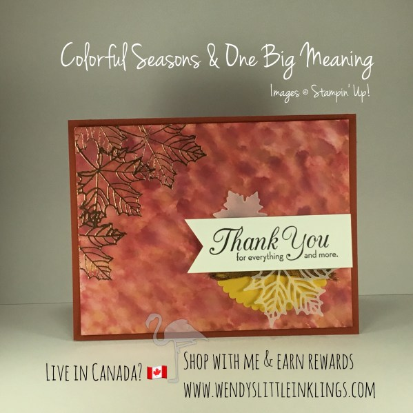 Wendy's Little Inklings: Autumn Colorful Seasons Thank You Card