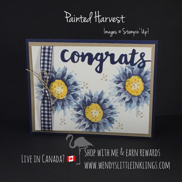 Wendy's Little Inklings: Painted Harvest Card in Blue