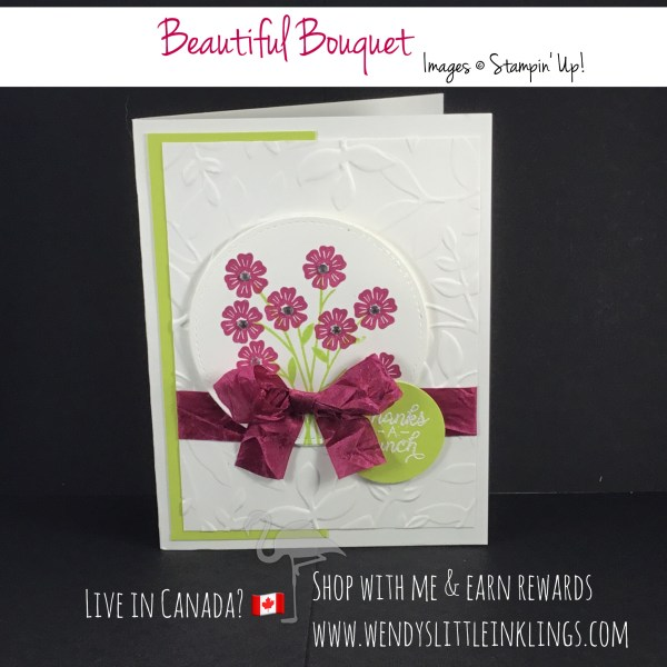Wendy's Little Inklings: Beautiful Bouquet Thank You Card