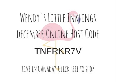 Wendy's Little Inklings: December Host Code