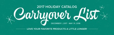 Wendy's Little Inklings: Holiday Carryover List