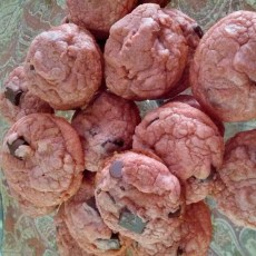 Pink Chocolate cookies