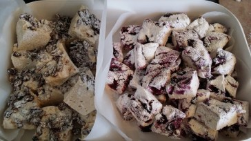 Blueberry and pecan Marshmallows