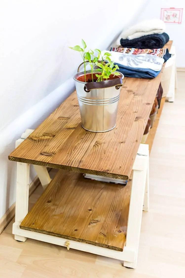DIY Regal Regal bauen mit Mini Klappbcken  DIY Blog Wendys Wohnzimmer