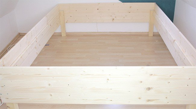 bett selbst bauen. Black Bedroom Furniture Sets. Home Design Ideas
