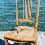 Chair with damaged cane