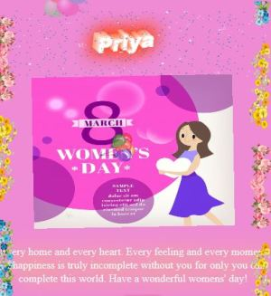 Happy Womens day wish script