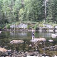 Erfrischung am Fluss.
