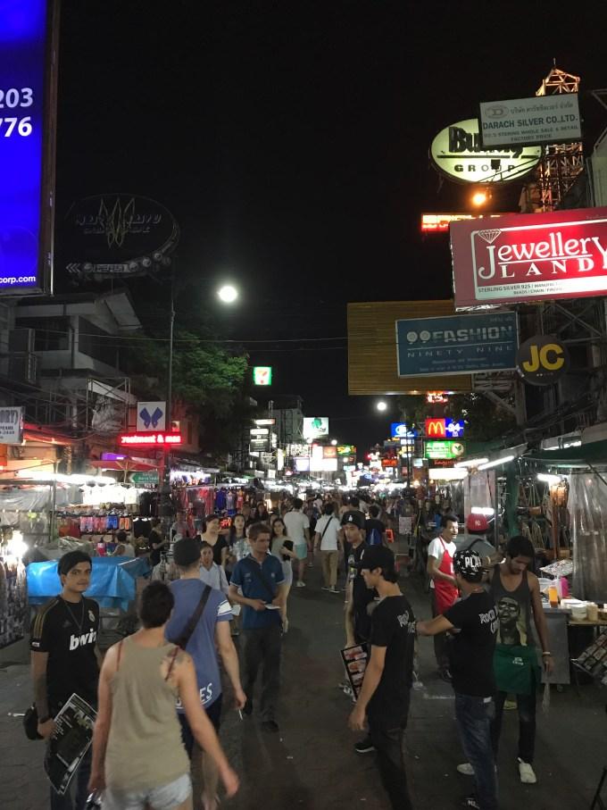 Khao San Road am Abend