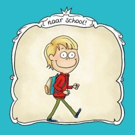 Kaartje eerste schooldag (2)