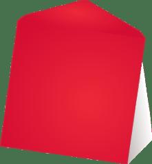 Rode wenskaart enveloppen