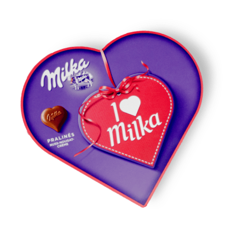 hartjes chocolade kaartje