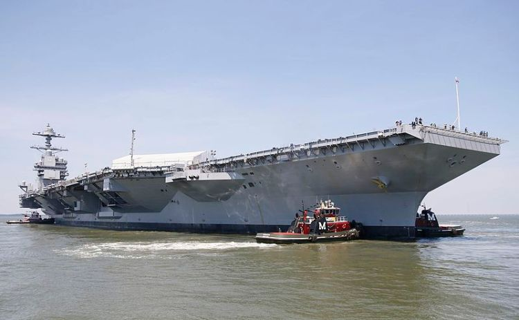 Newest aircraft carrier Gerald R. Ford