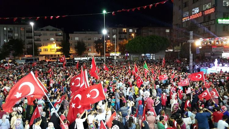 Turkish protesters in Istanbul