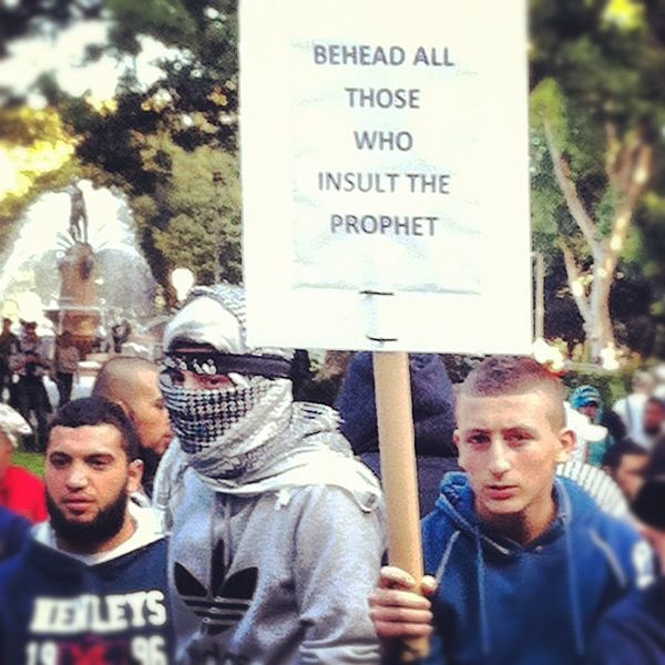 Islam demo, Hyde Park, Sdyney 2012
