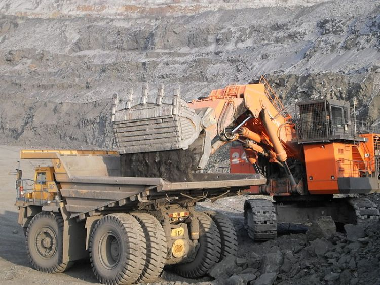 Modern mining equipment - Imagine digging that pit by hand.