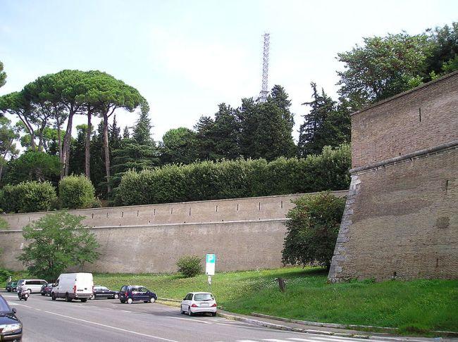 Vatican walls in Rome