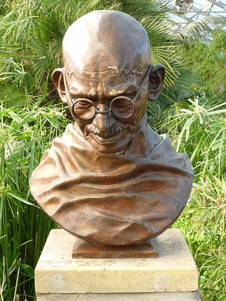 Bust of Mahatma Gandhi, Saughton Park, Edinburgh