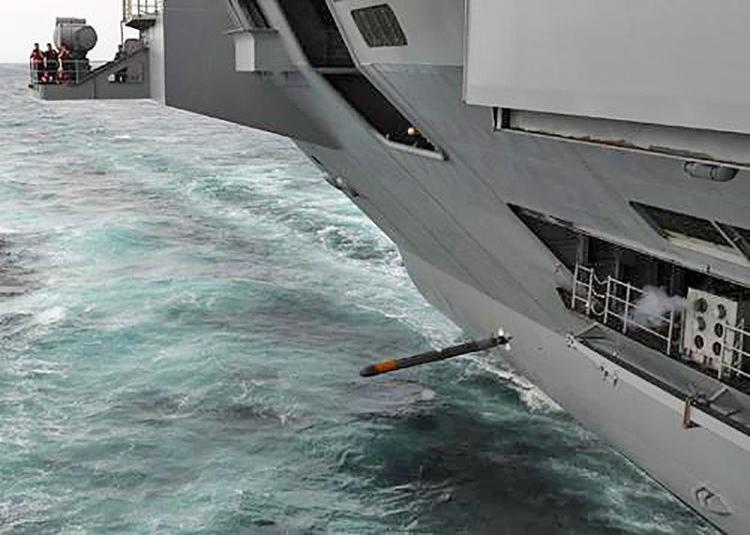 CAT being launched from a supercarrier.