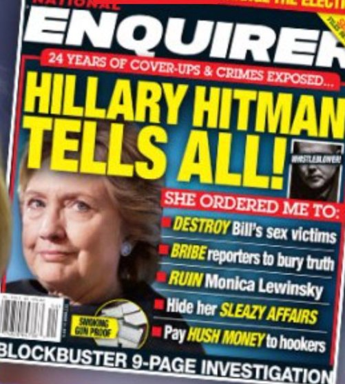 National Enquirer on Clinton