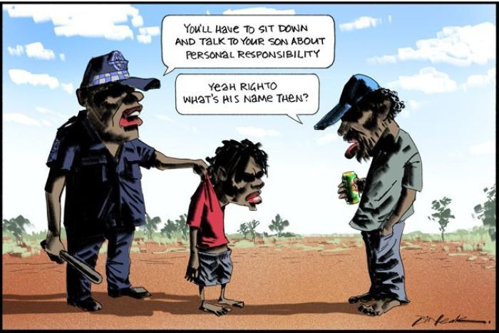Bill Leak cartoon in the Australian