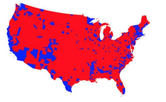 US election by county