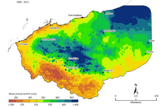 pilbara-rainfall-map