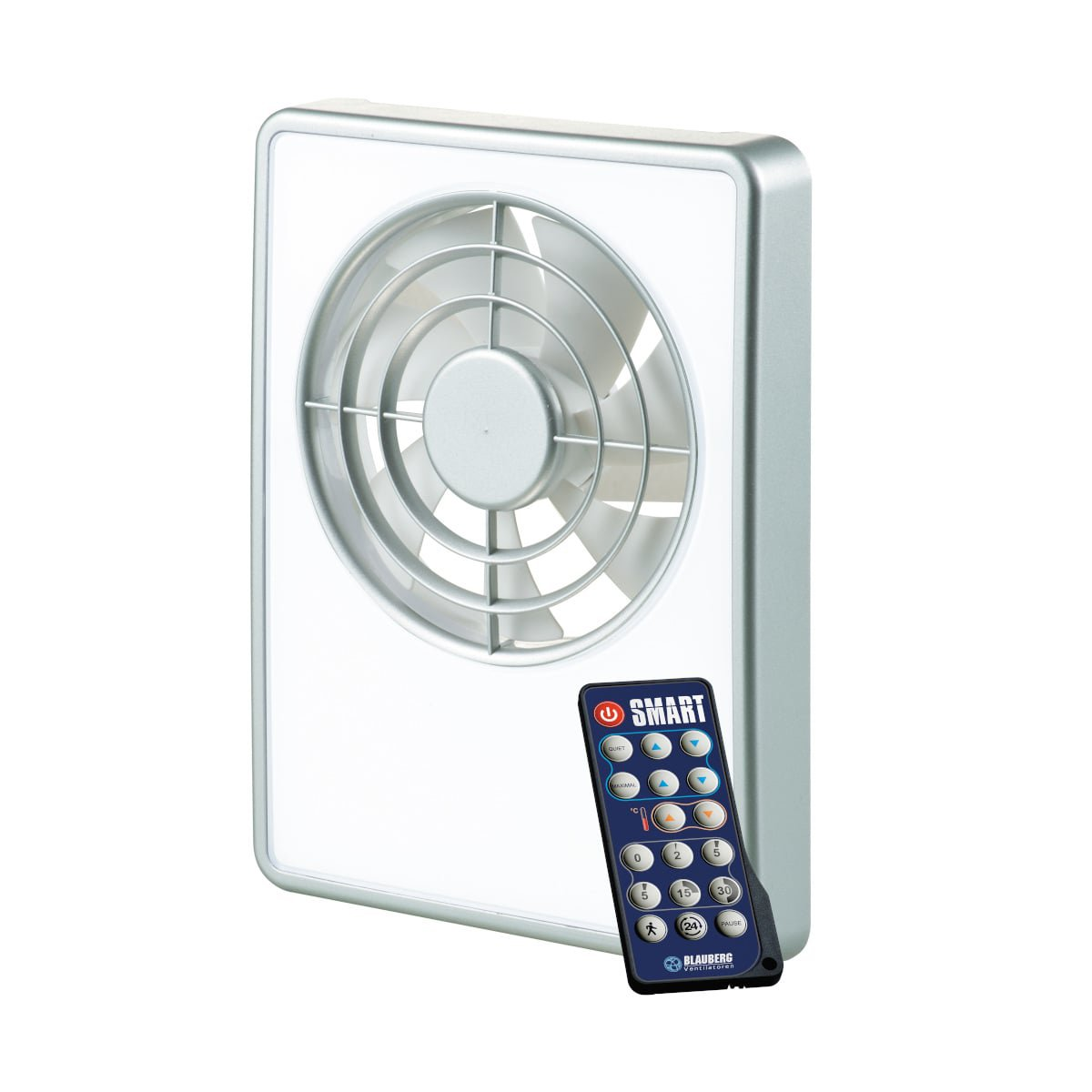 blauberg intelligent exhaust fan with a mode programmer and a smart remote control