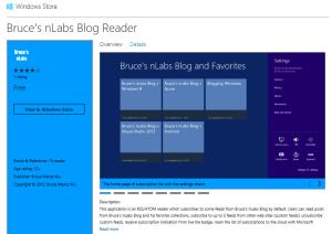 Bruce's nLabs Blog Reader - Release 2