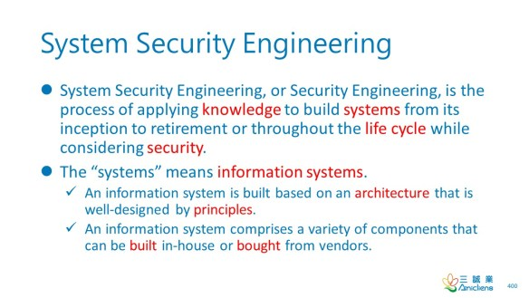 System Security Engineering
