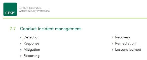 Conduct Incident Management