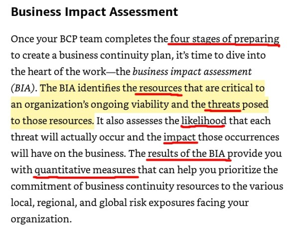 Business Impact Analysis (OSG)