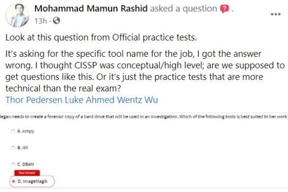 Taking CISSP Practice Questions as a Learning Process