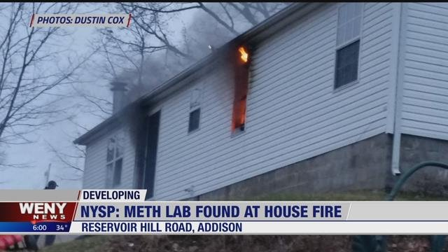 WENY News NYSP Investigating Meth Lab After House Fire