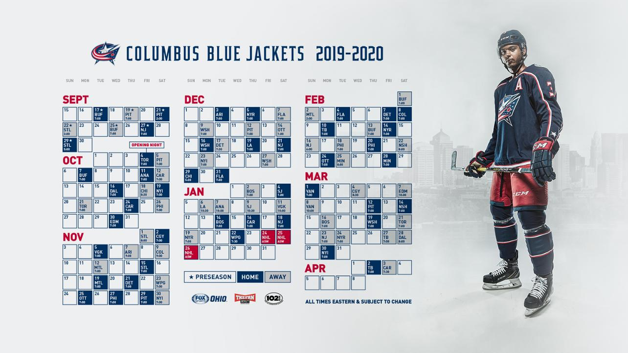 blue jackets third jersey schedule