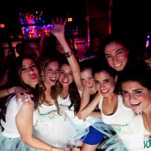 Bachelorette party striking a pose 4