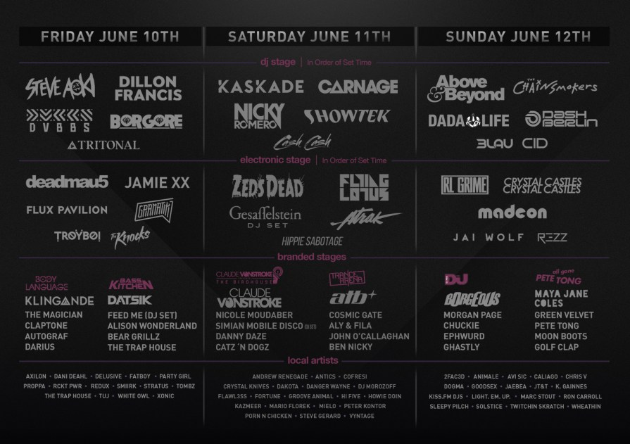 We Own The Nite NYC_Spring Awakening Music Festival 2016_Daily Lineup