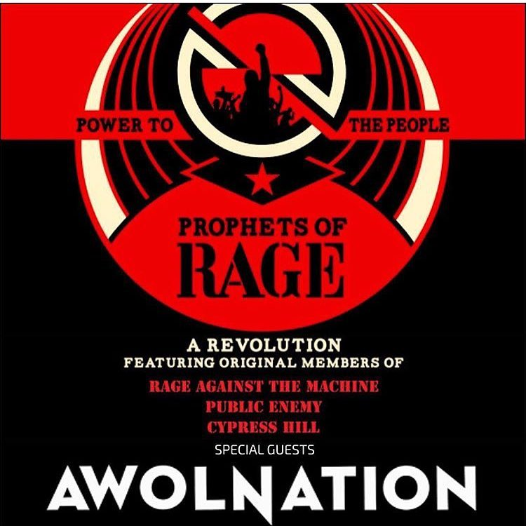 We Own The Nite NYC_AWOLNATION_Prophets of Rage_Tour