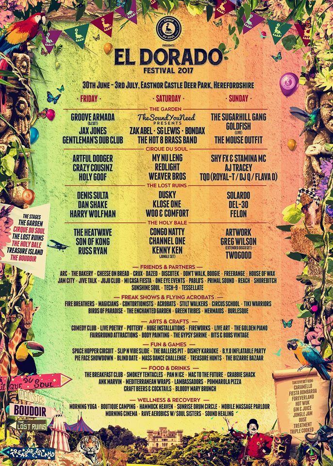 El Dorado Festival Featuring Groove Armada Aj Tracey The