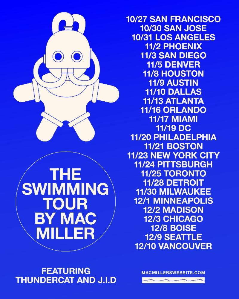 OUT NOW: Mac Miller's New Album 'Swimming' via Warner Bros
