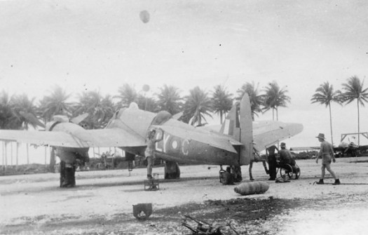 Beaughfighter LY-C, A19-191, of RAAF 30 Squadron at Morotai airf