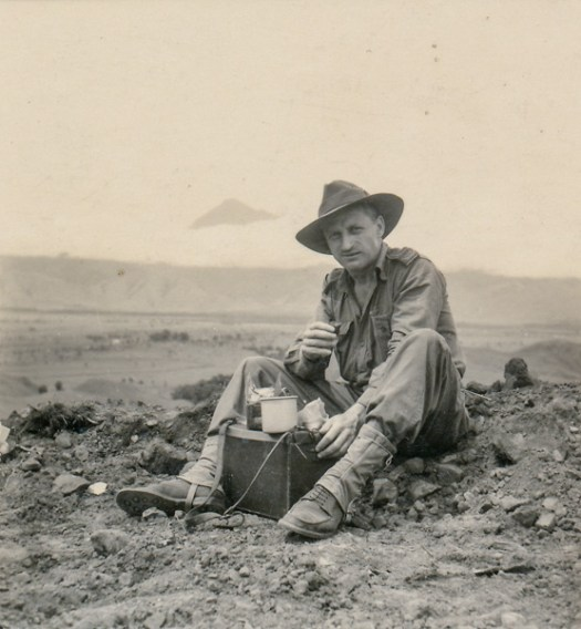 Unidentified War Correspondent, possibly a photographer, at Roun