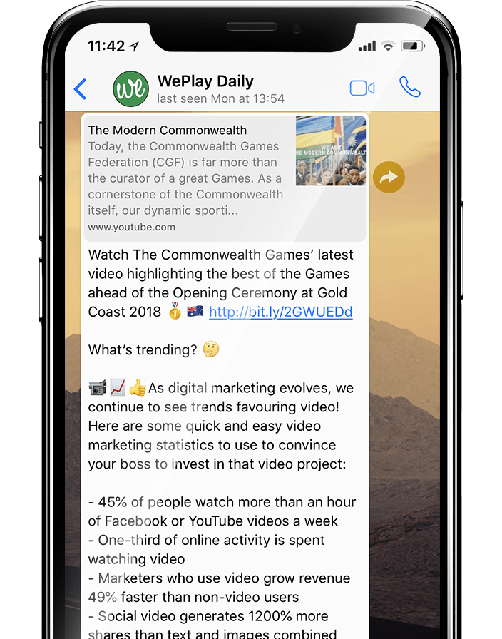 WePlay Daily on WhatsApp