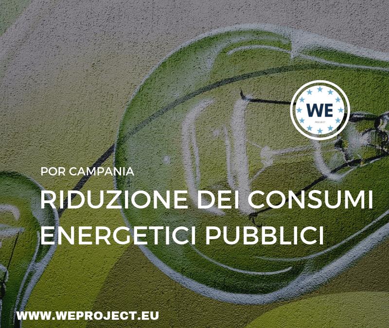 Progetti di riduzione dei consumi energetici pubblici