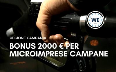 Bonus 2000 € Microimprese campane