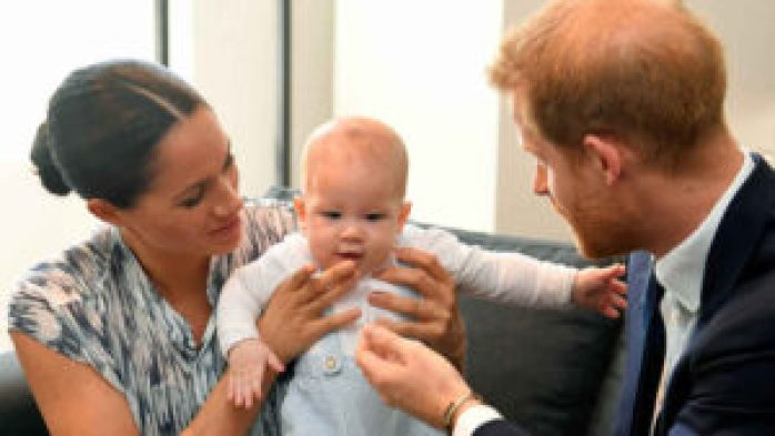 Meghan Markle and Prince Harry with Archie