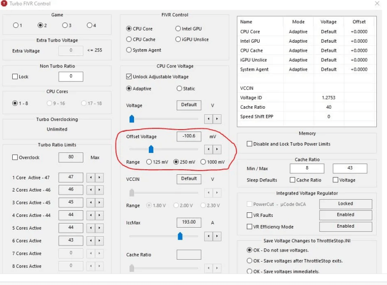 Make your CPU consume and heat less with Throttlestop