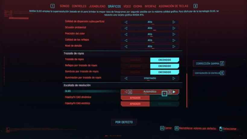 adjust graphics Cyberpunk