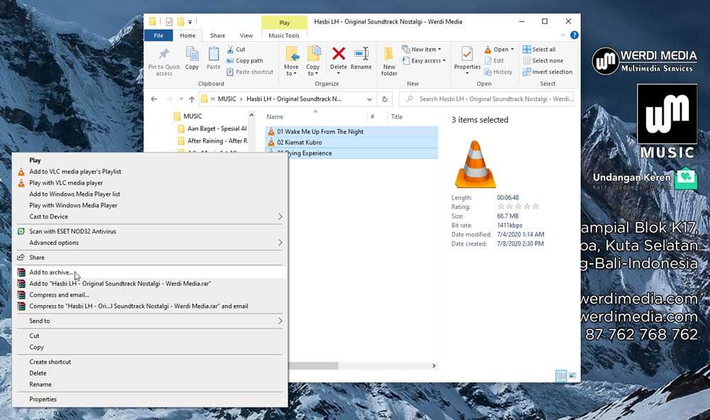 Menggunakan Aplikasi WinRAR di PC | Werdi Media Music